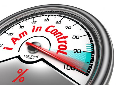 i am in control conceptual meter