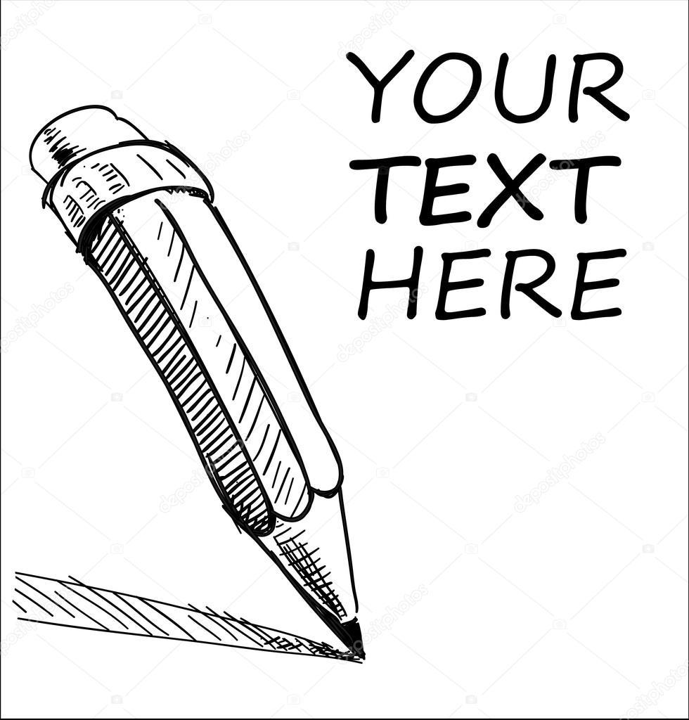 Illustration d 39 esquisse crayon dessin de la main et - Main dessin crayon ...
