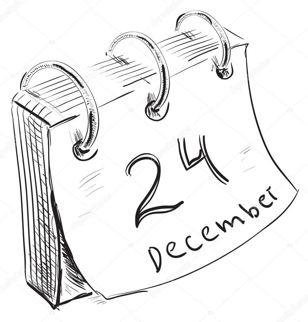 Calendario Conto Alla Rovescia.Calendario Conto Alla Rovescia Di Natale Con Fogli Di Carta