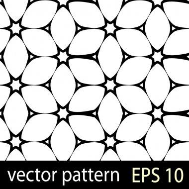 Black and white geometric figures seamless pattern scrapbook paper set