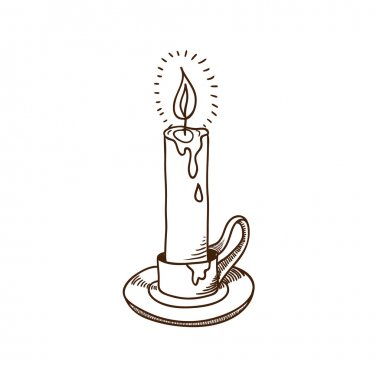 Burning candle sketch