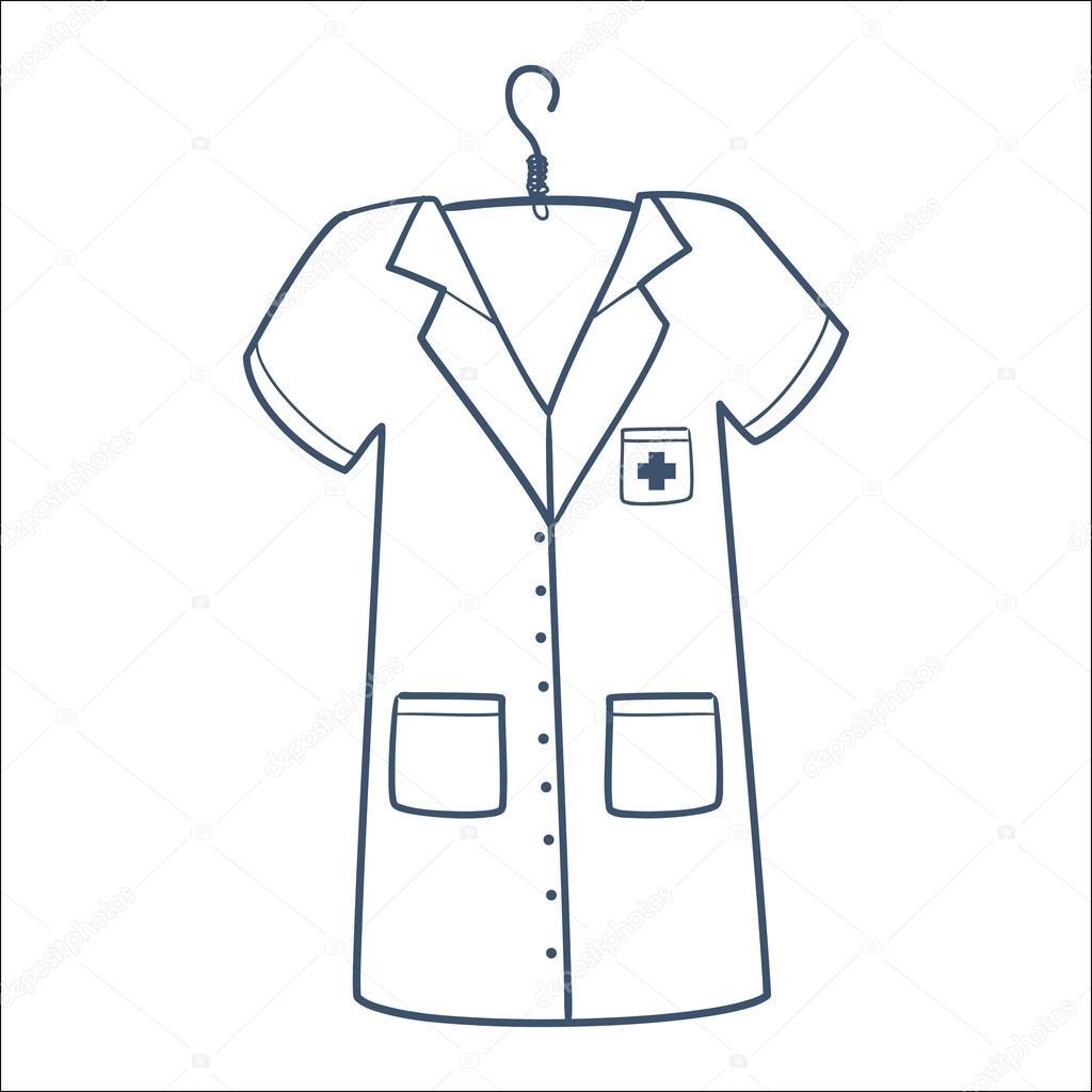 Vector Uniforme Doctor Enfermera O Doctor Uniforme
