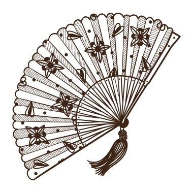 Lady's fan.