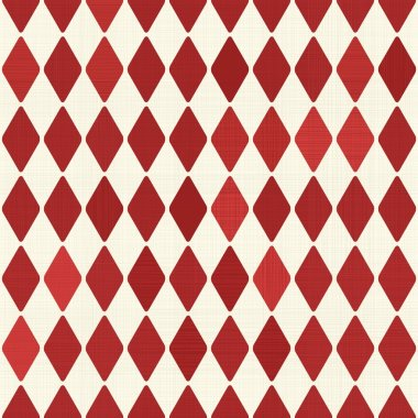 Seamless retro red harlequin background