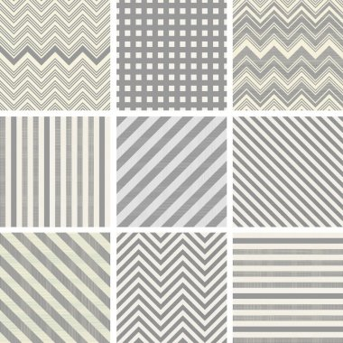 Set of 9 seamless polka dot patterns