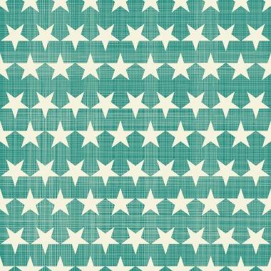 Seamless stars pattern in retro faded green clip art vector