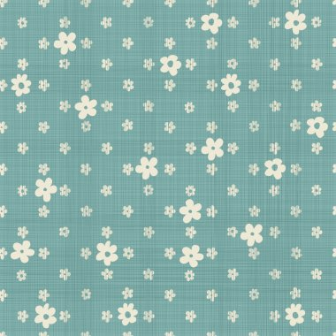 Cute flowers  seamless pattern