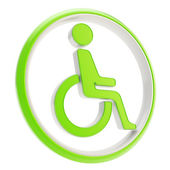 Fotografie Disabled handicapped person icon emblem isolated