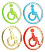 Fotografie Disabled handicapped person icon emblem