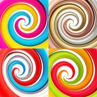 Twisted spiral vortex background