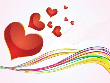 Abstract colorful hearts background vector illustration clip art vector