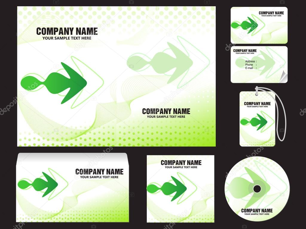 Abstract corporate id template stock vector rioillustrator abstract corporate id template vector illustration vector by rioillustrator pronofoot35fo Images