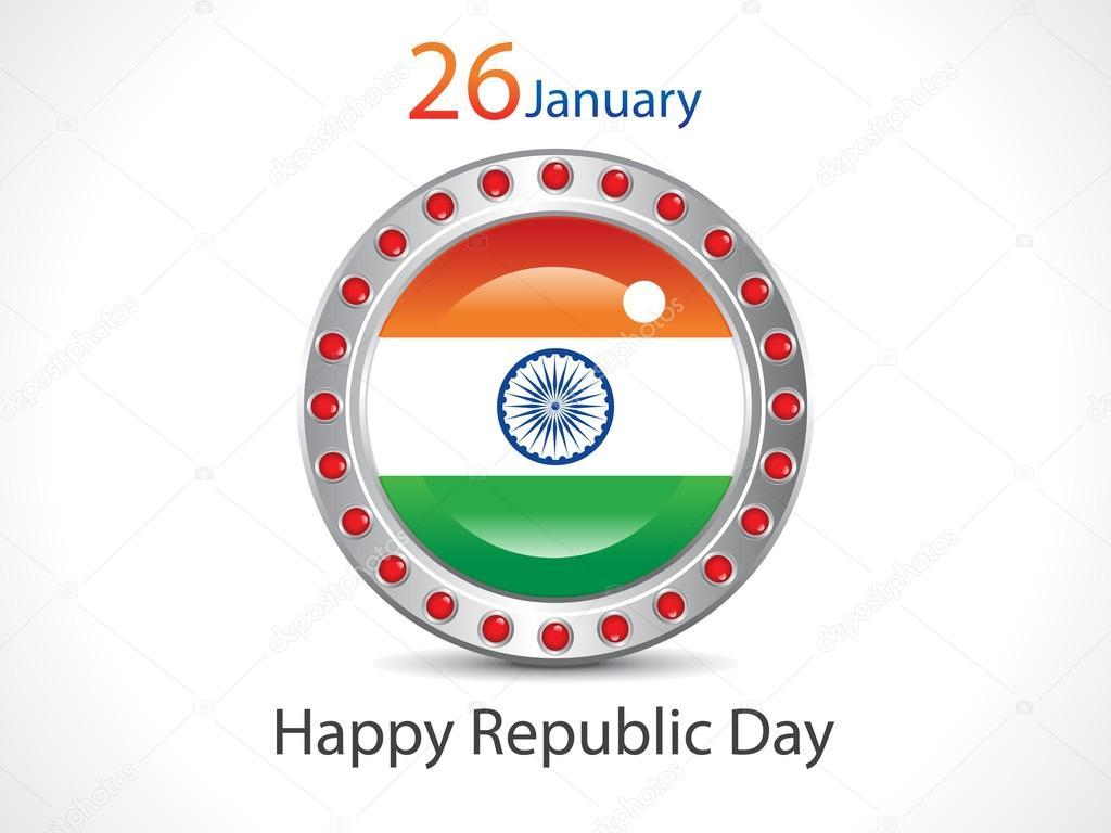 Abstract Republic Day Wallpaper Stock Vector Rioillustrator