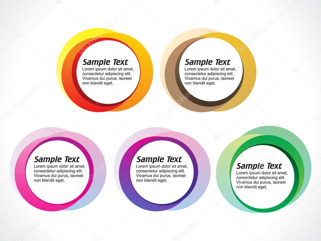 abstract colorful blank circles template stock vector