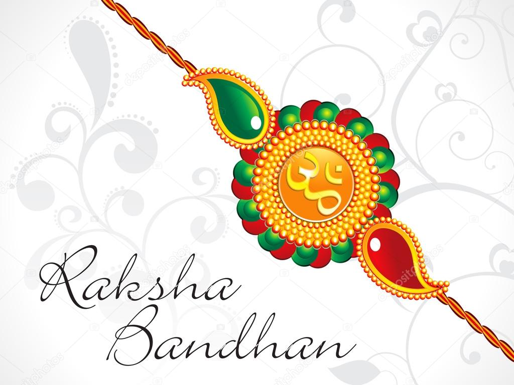 Abstract Raksha Bandhan Wallpaper Stock Vector Rioillustrator