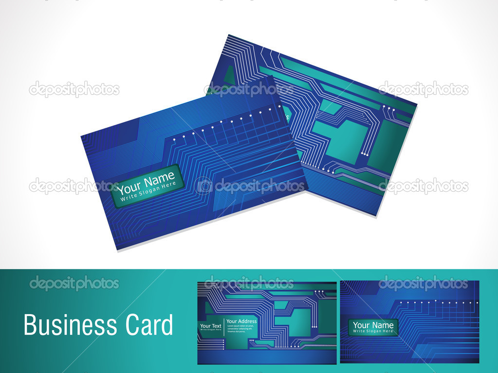 abstract digital business card template — Stock Vector ...