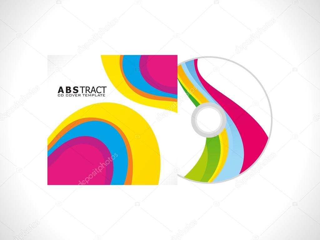 plantilla de cubierta cd colores abstractos — Fotos de Stock ...