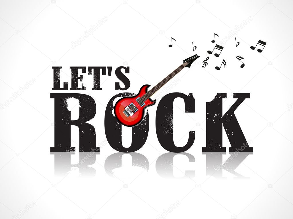 lets rock background with guitar