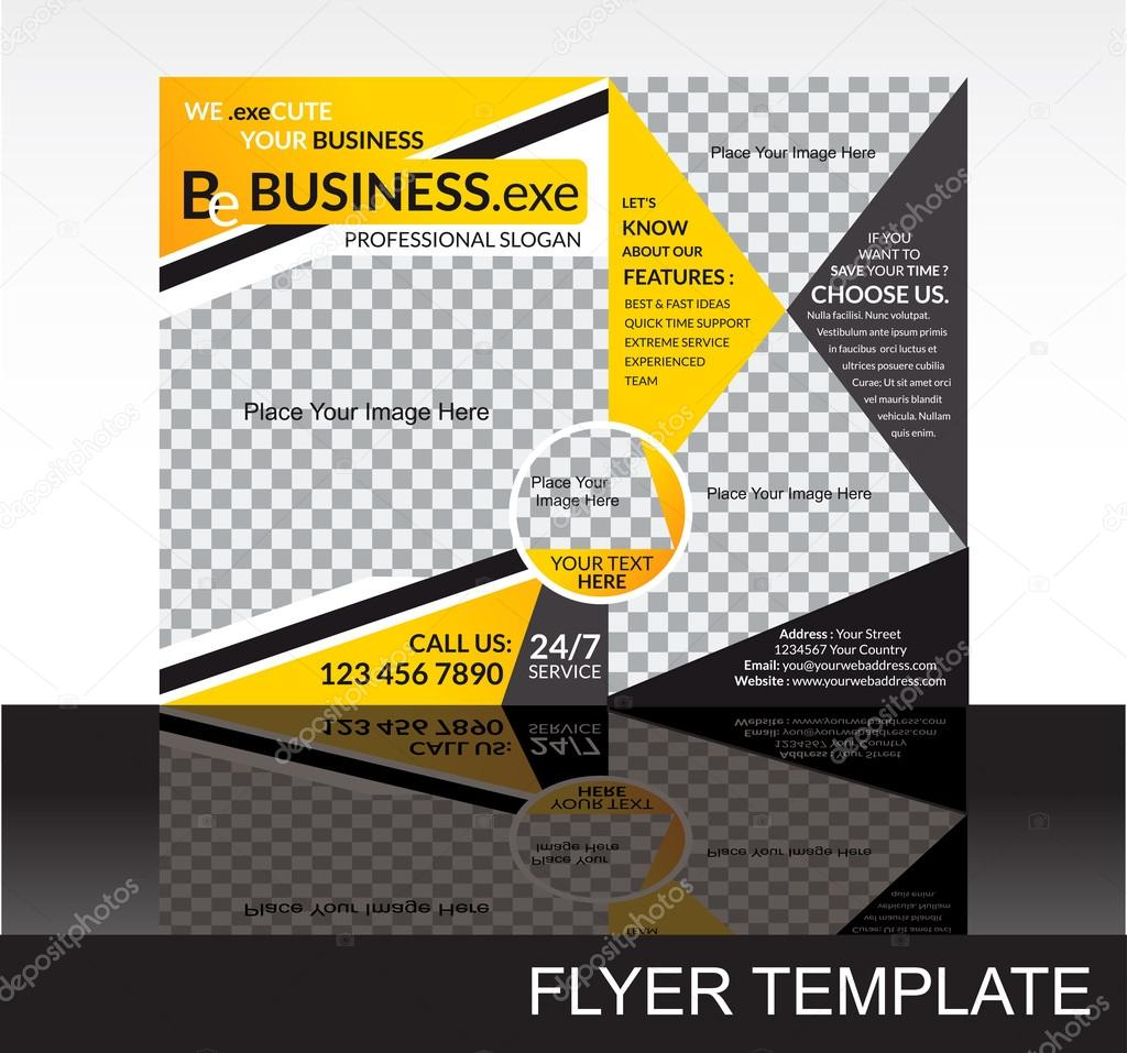 abstract coirporate flyer template stock vector rioillustrator