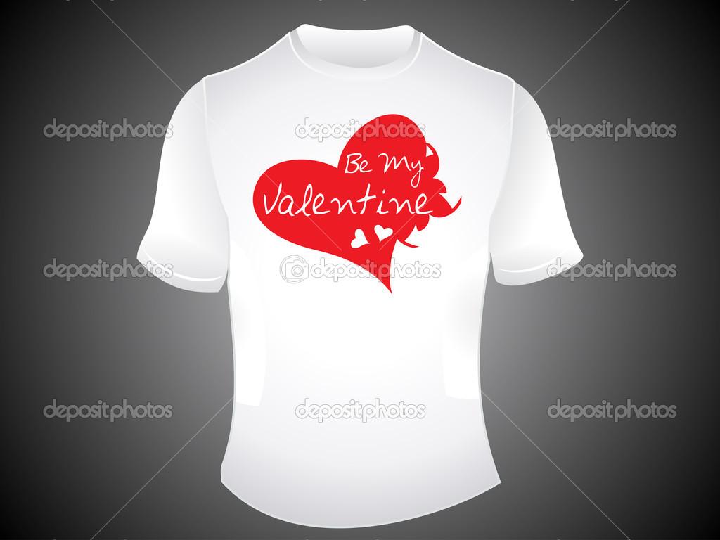 19453d3de94b abstraktní být můj Valentýn tričko — Stock Vektor © rioillustrator ...