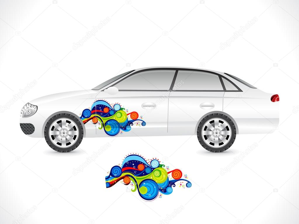 abstrakte Limousine Autoaufkleber — Stockvektor © rioillustrator ...