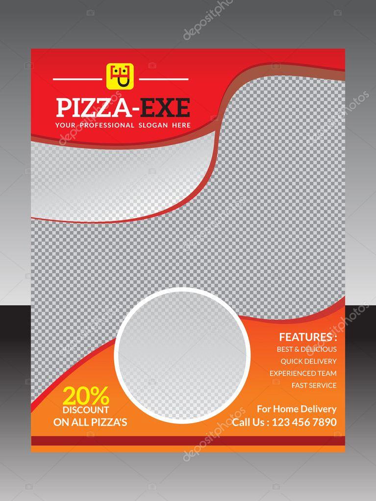 plantilla folleto Resumen pizza — Vector de stock © rioillustrator ...