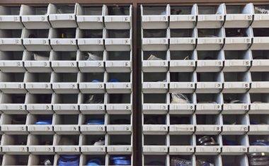 plastic shelves for spare parts