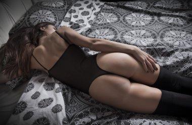 sexy womenon bed