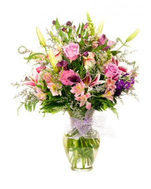 Colorful florist-made floral flower arrangement bouquet