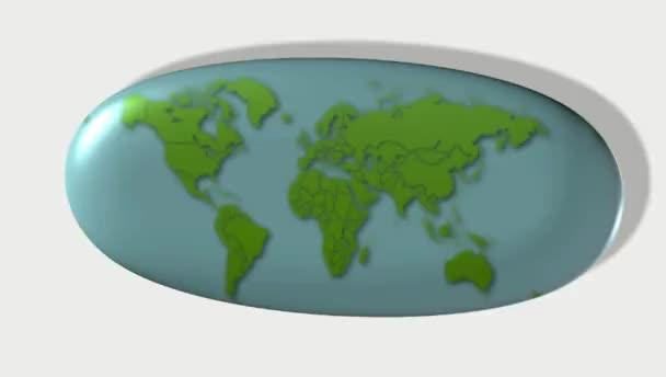 mapa světa. rotující znamení