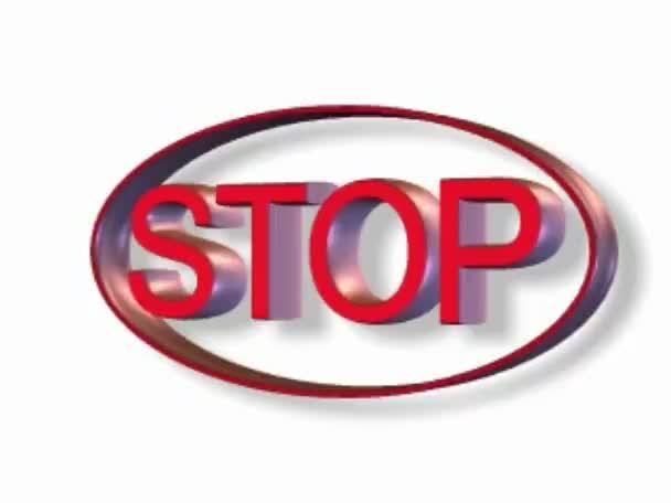 Stop szimbólum fehér háttérrel