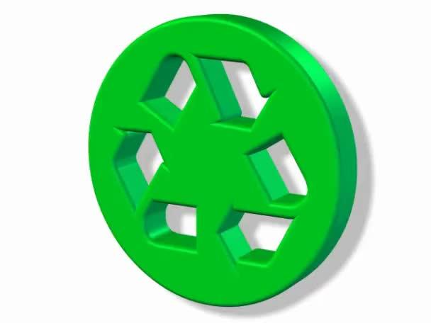 Turning recycle green logo