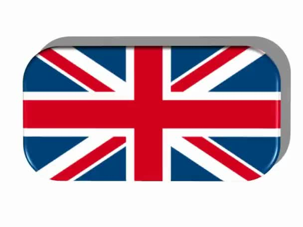 British flag with frame rotating — Stock Video © njaj #29821285