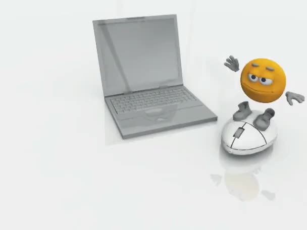 Smiley on a computer mouse