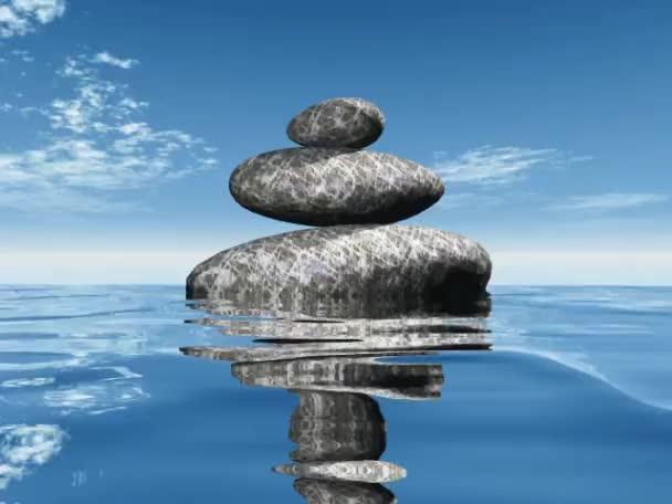 kövek és a víz