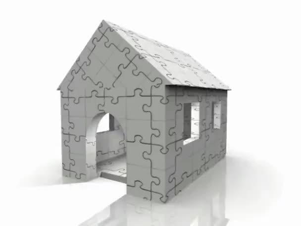 dům puszzle koncepce