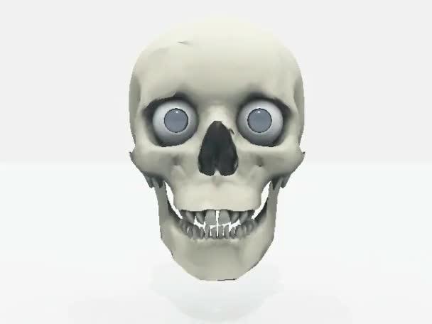 lidské lebky izolovaných na bílém pozadí