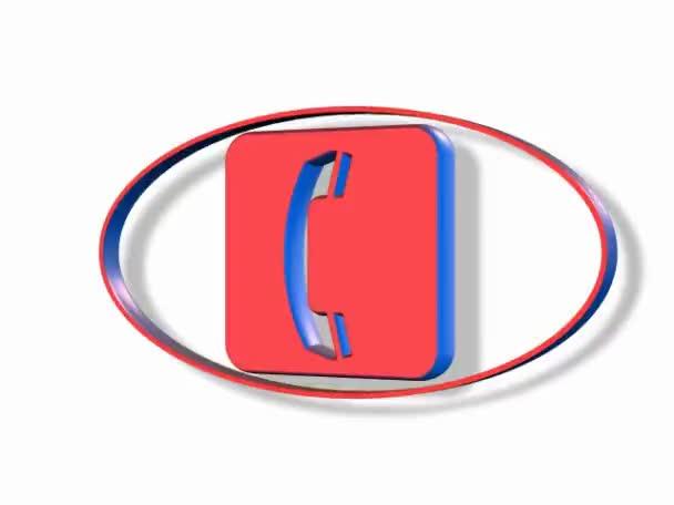 Telefon szimbólum fehér háttérrel