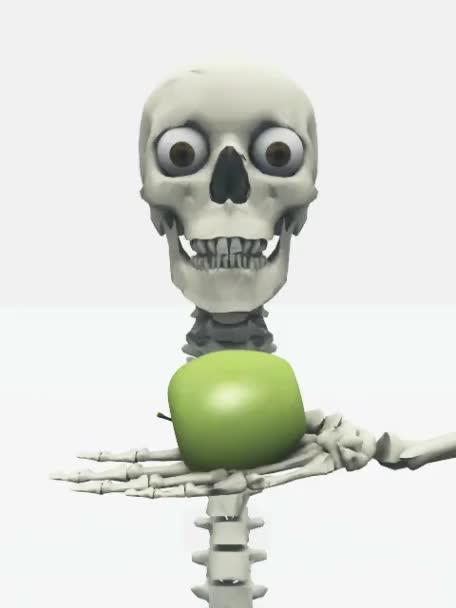 lidský sculland apple izolovaných na bílém pozadí