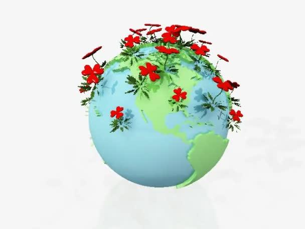 země s květinami