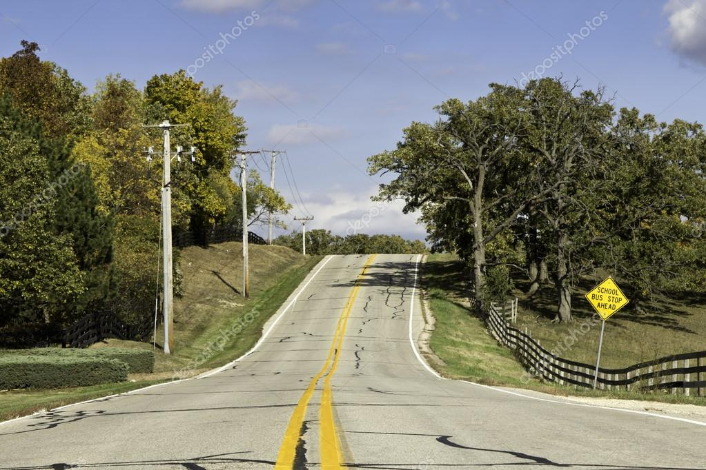 American country asphalt road