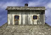 Fotografie dřevěné krovy střechy