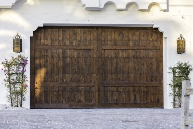 Typical wooden garage in South Florida