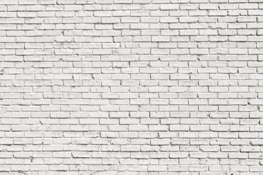 White brick wall for background or texture stock vector