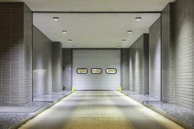 Entrance to underground garage