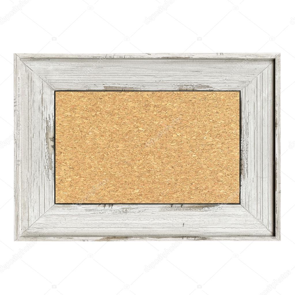 Holz Rahmen isoliert auf weiss lackiert — Stockfoto © marchello74 ...
