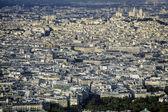 pohled z Paříže s bazilika sacre coeur