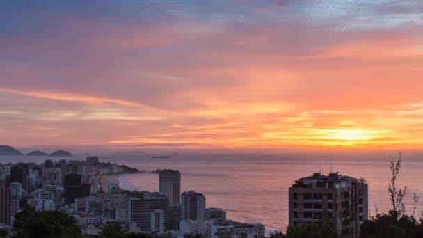 Rio de janeiro ipanema pláže sunrise pohled z alto leblon