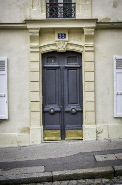 Old wood arch entry door