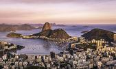 západ slunce nad rio de janeiro, Brazílie